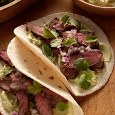 Chipotle Skirt Steak Fajitas with Avocado CreamRecipe by Jamie Purviance