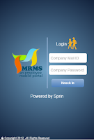 Screenshot of mrms app