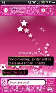 Zebra Sparkle Theme for GO SMS - screenshot