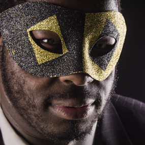 Masked by Stephanie Simmons - People Portraits of Men ( studio, masquerade, masks, portraits )