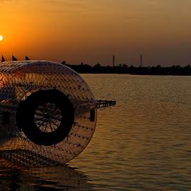 Ecopark by Manindra Mukherjee - City,  Street & Park  City Parks ( water, waterscape, sunset, parks, street, sunrise, city )