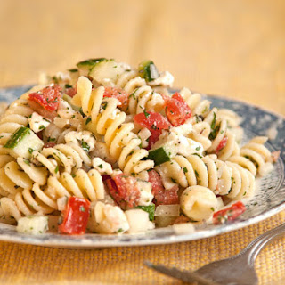 Greek Pasta Salad Feta Olives Recipes