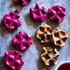 Blueberry Waffle Cookies