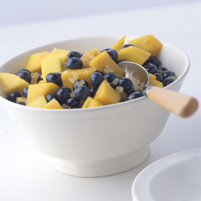 Mango, Blueberry, and Ginger Fruit Salad
