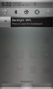 CM10 Chrome Silver Theme - screenshot