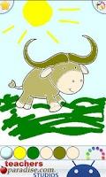 Screenshot of Farm Animals Coloring Book