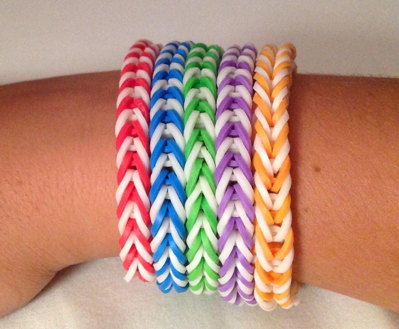 Плетение браслетов на руку из резиночек