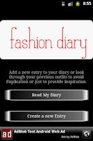 Screenshot of Fashion Diary