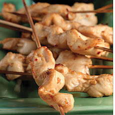Skewered Chicken with Spicy Peanut Dip