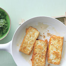 Panfried Tofu with Romano-Bean and Herb Salad