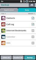 Screenshot of Backup & Restore BackMeUp Lite