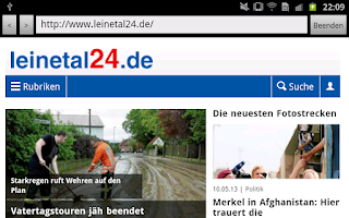 Screenshot of leinetal24.de
