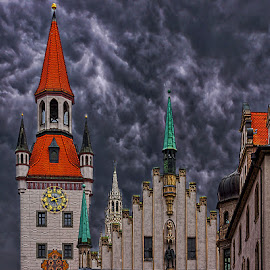 Alte Rathaus by Izzy Kapetanovic - Buildings & Architecture Public & Historical ( munich, sky, marienplatz, germany, historical, architecture )