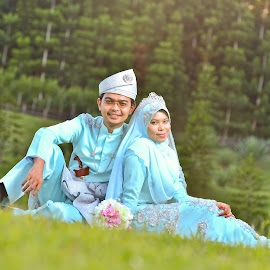 Wafy & Fizah by Caownphotography Shahrol - Wedding Bride & Groom ( love, kiss, wedding, couple, loving, bride, groom )