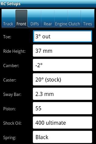 RC Setups - screenshot