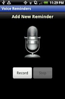 Screenshot of Voice Reminders