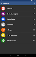 Screenshot of aWallet Password Manager