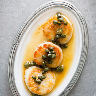 Seared Sea Scallops with Browned Butter Caper Sauce