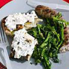Sausages, Rabes and Ricotta on Ciabatta