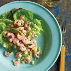 Shrimp and Corn Salad in Bibb Lettuce Cups