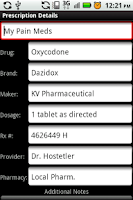 Screenshot of My Rx Info