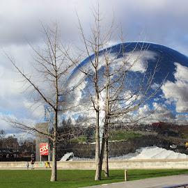 Cite des sciences et de l'industrie by Alin Gavriluta - Buildings & Architecture Other Exteriors ( mirror, paris, park, france, museum )