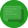Download EvolveSMS Transparent Green APK