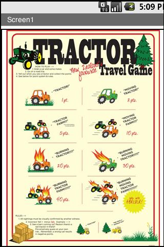 Tractor travelling game