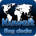 Kuwait flag clocks icon