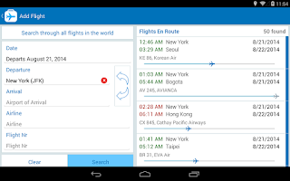 Screenshot of Flight Companion