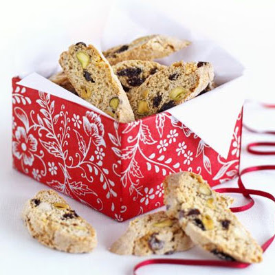 Fruity Christmas biscotti
