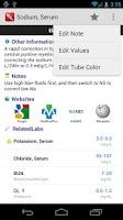 Screenshot of Pocket Lab Values