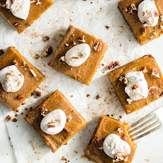 Vegan Pumpkin Pie Squares with Gluten-Free Graham Cracker Crust