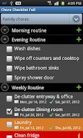 Screenshot of Chore Checklist