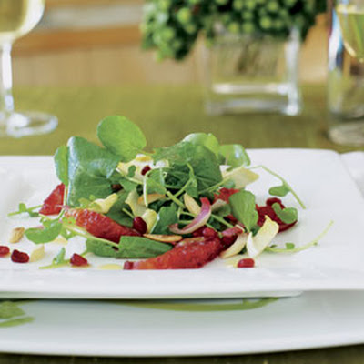 Watercress Endive Salad with Blood Oranges and Pomegranates