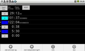 Screenshot of Multi Lap StopWatch