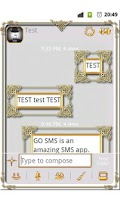 Screenshot of GO SMS Golden Vintage Light