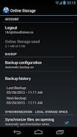 Screenshot of 1&1 Online Storage