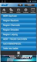 Screenshot of MDR Sachsen