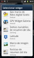 Screenshot of GPV Widget Gallery