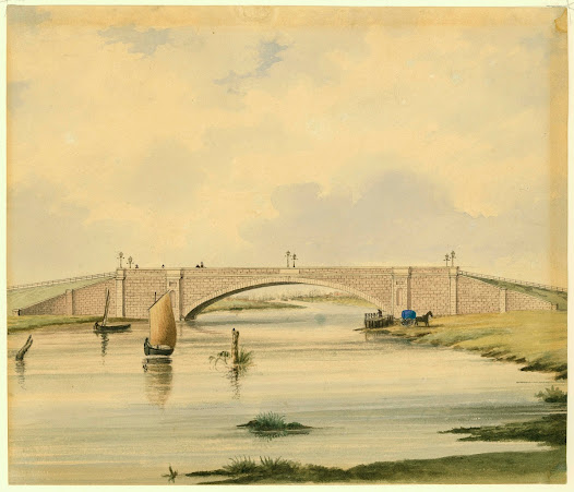 1850 - Replacing the old wooden bridge, the new Princes Bridge is completed and Superintendent La Trobe officially opens the Yarra River crossing.