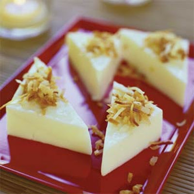 Coconut Pudding Triangles