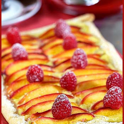 Nectarine and Raspberry Tart