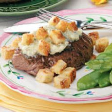 Beef Steaks With Blue Cheese