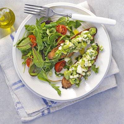 Broad Bean & Feta Cheese Toasts
