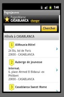 Screenshot of Yellow Pages Morocco