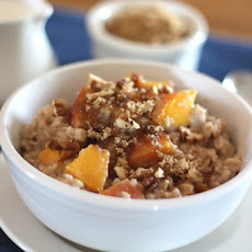 Peaches and Cream Pecan Oatmeal