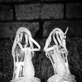 Glitsy Heels by Vyver Photoventics - People Fashion ( shoes, wedding photography, details, wedding, silver, artistic, object )