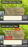 Screenshot of SMS Sent Time