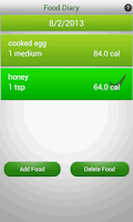 Screenshot of Diet Planner